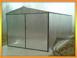 3x5m střecha sedlová - tloušťka plechu 1 mm